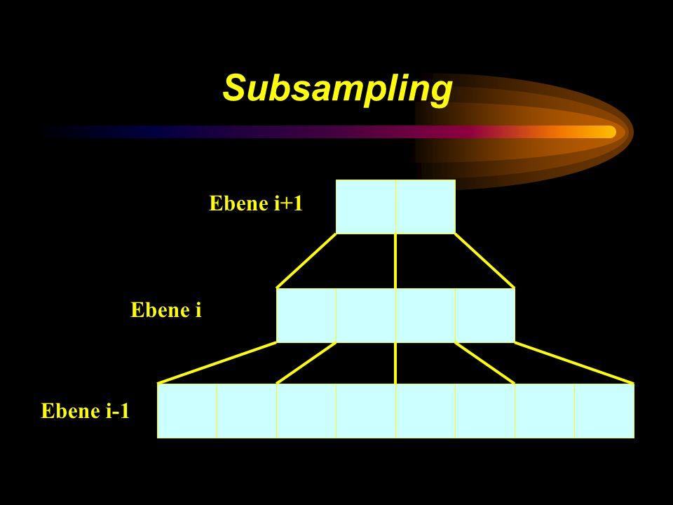Subsampling Ebene i+1 Ebene i Ebene i-1
