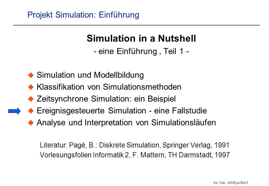 Projekt Simulation: Einführung