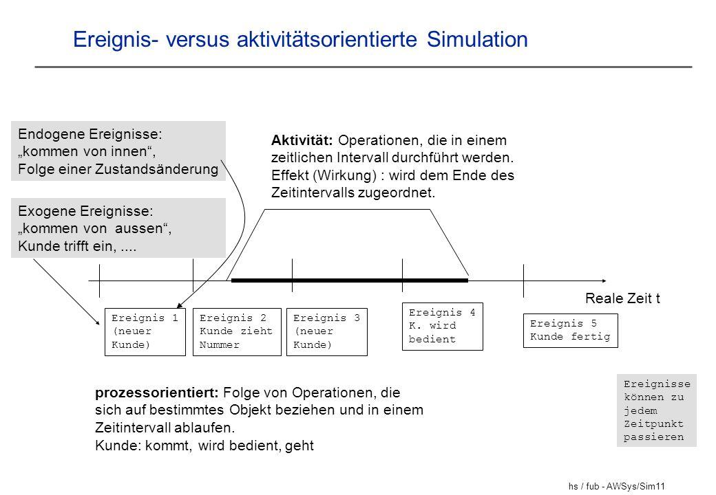 Ereignis- versus aktivitätsorientierte Simulation