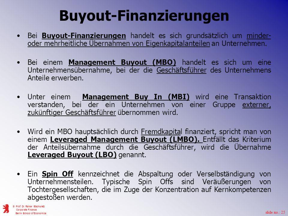 Buyout-Finanzierungen