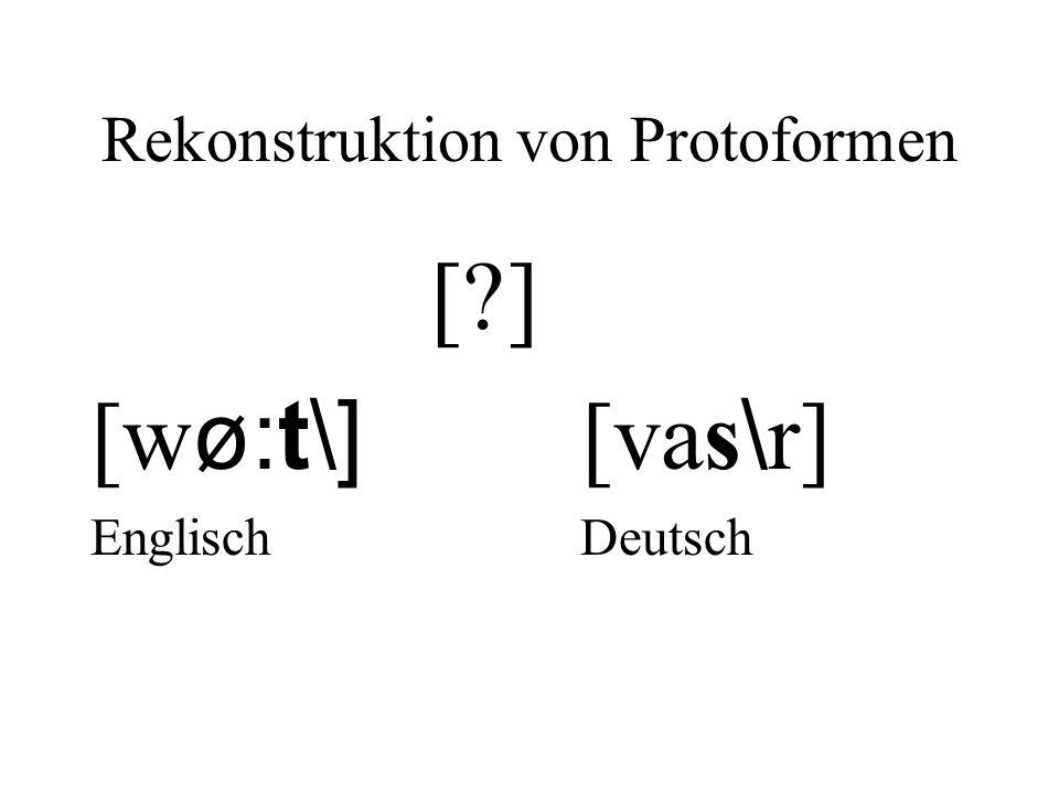 Rekonstruktion von Protoformen