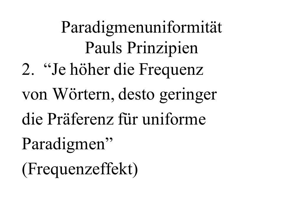 Paradigmenuniformität Pauls Prinzipien