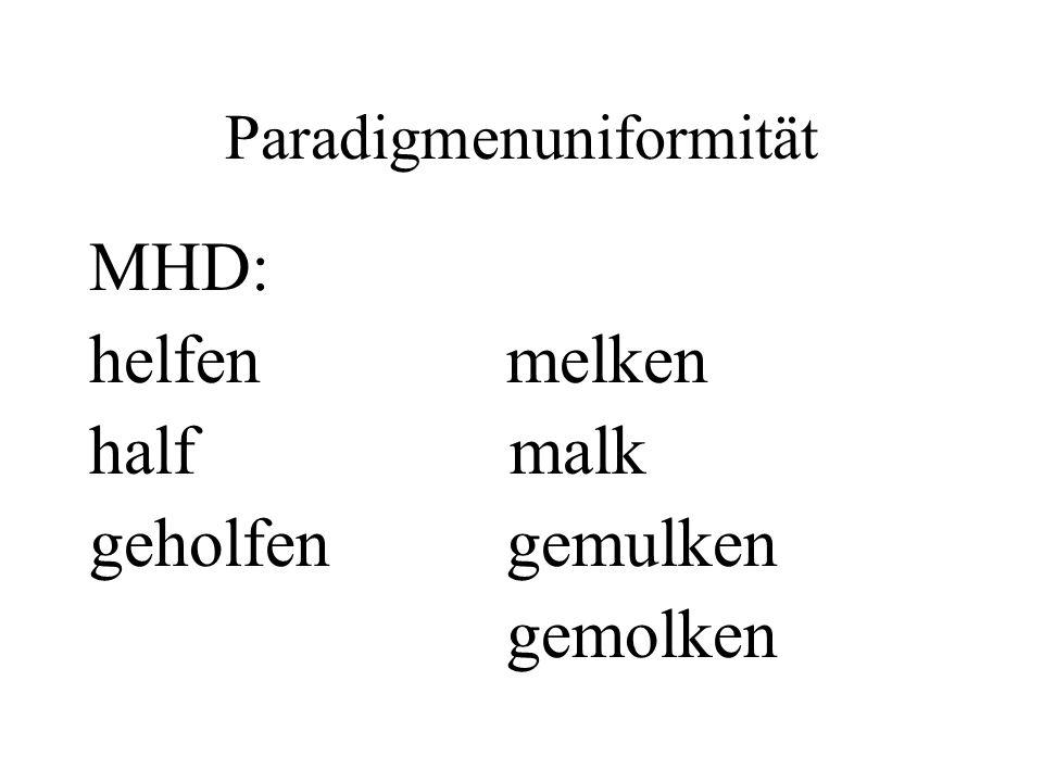Paradigmenuniformität