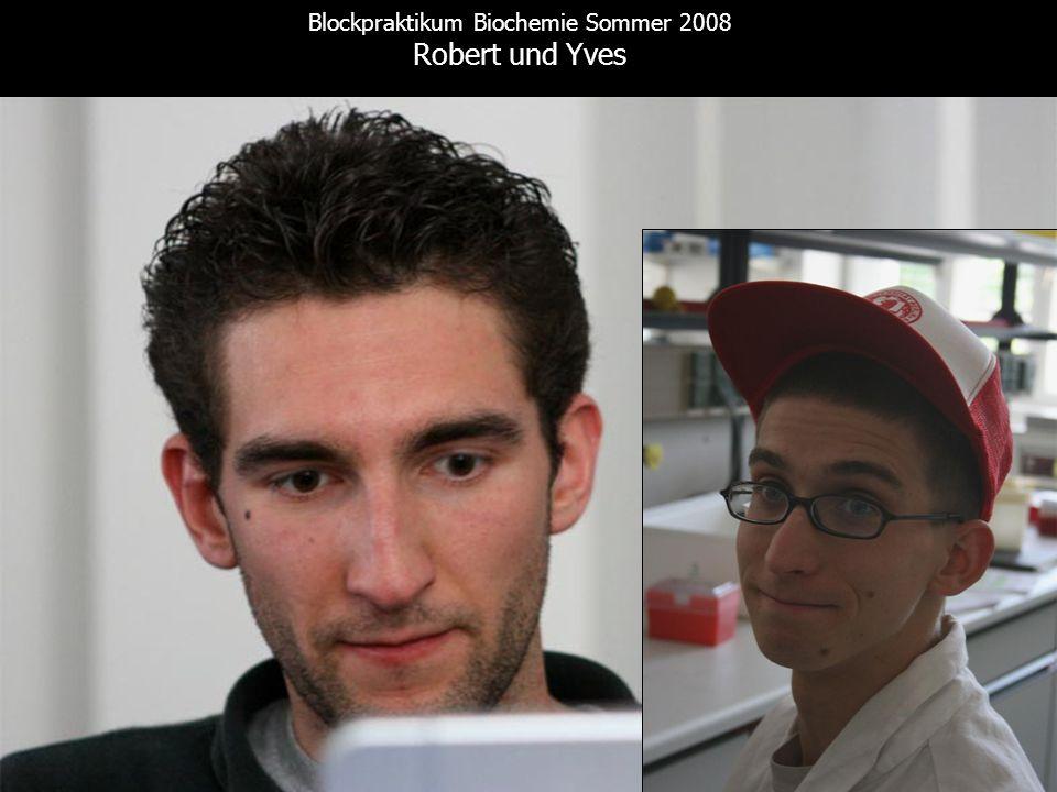 Blockpraktikum Biochemie Sommer 2008 Robert und Yves