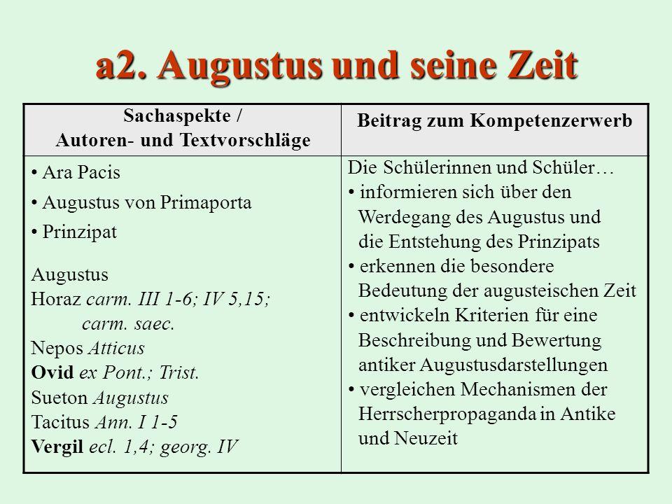 a2. Augustus und seine Zeit