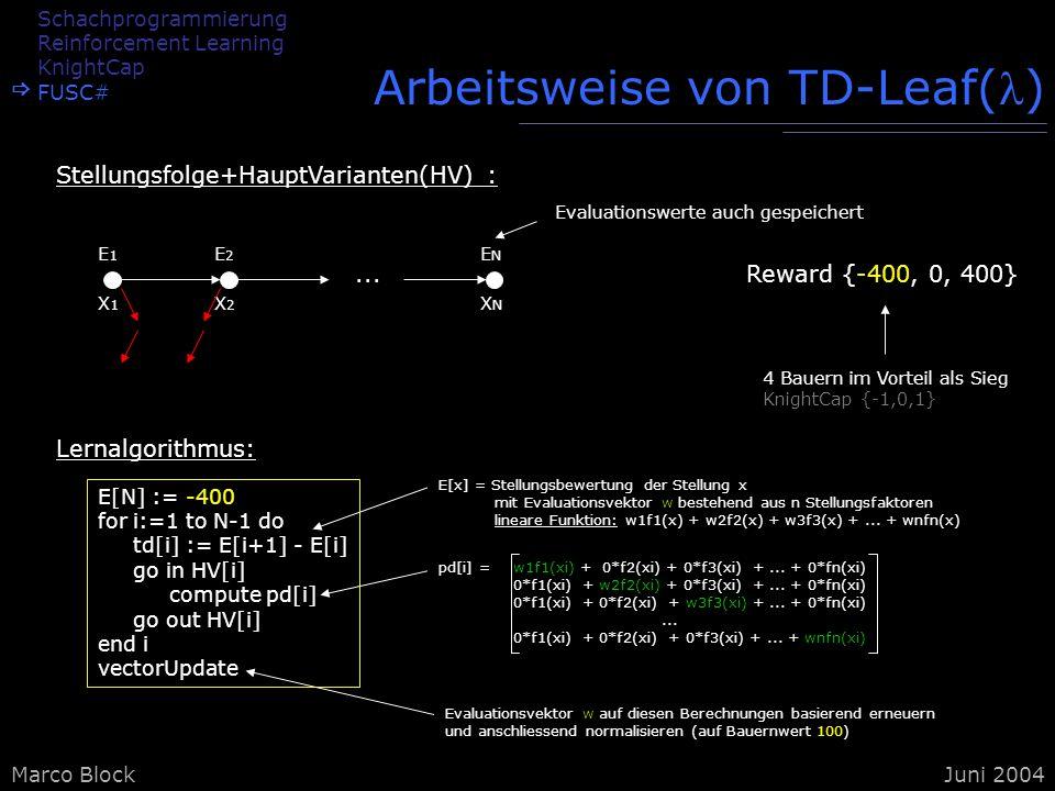 Arbeitsweise von TD-Leaf()