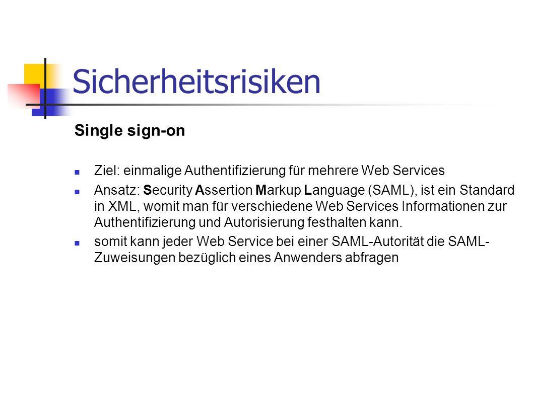 Sicherheitsrisiken Single sign-on