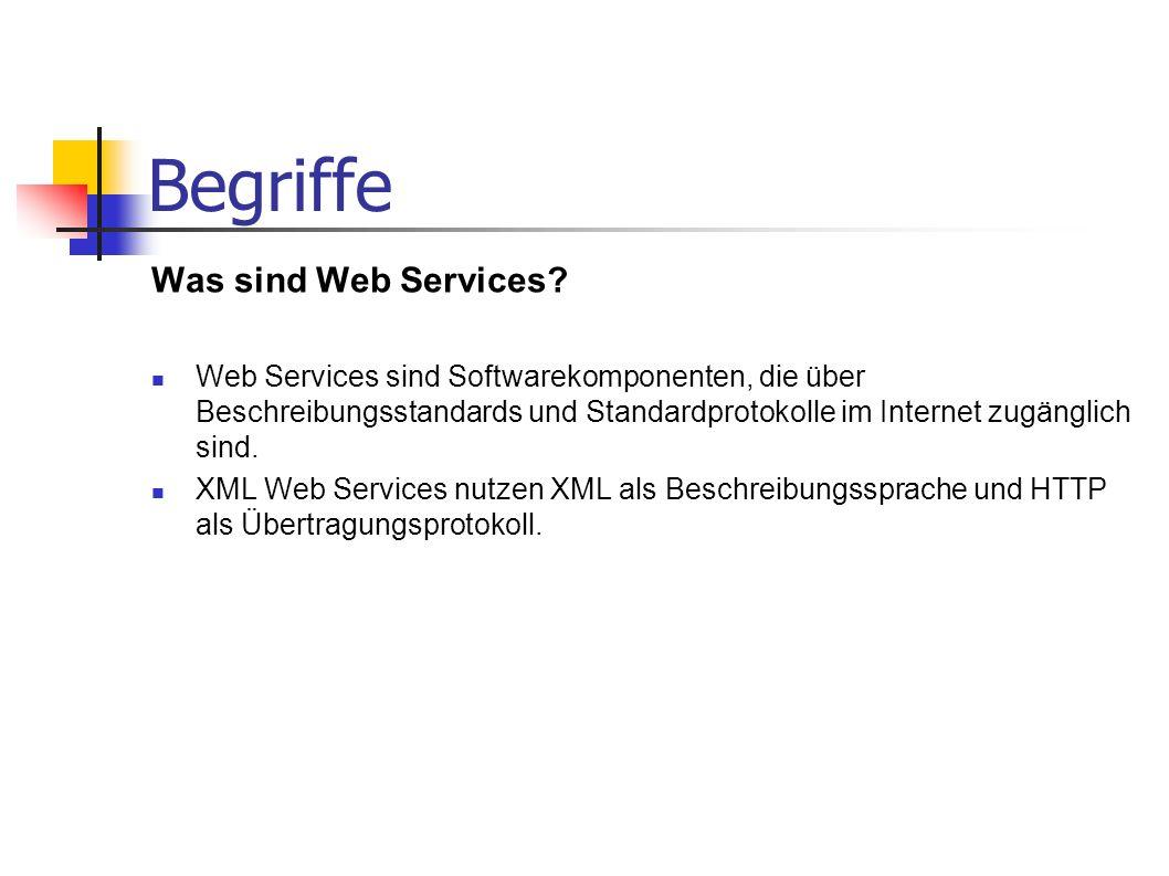 Begriffe Was sind Web Services