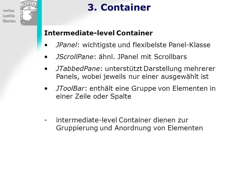 3. Container Intermediate-level Container