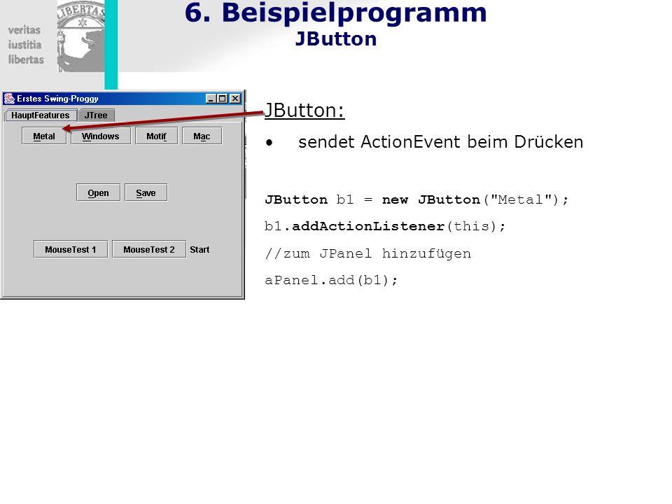 6. Beispielprogramm JButton