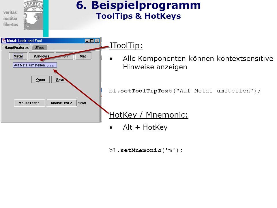 6. Beispielprogramm ToolTips & HotKeys