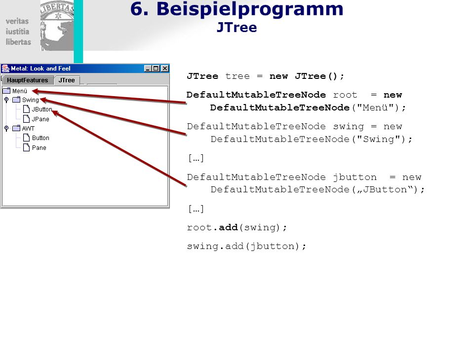 6. Beispielprogramm JTree