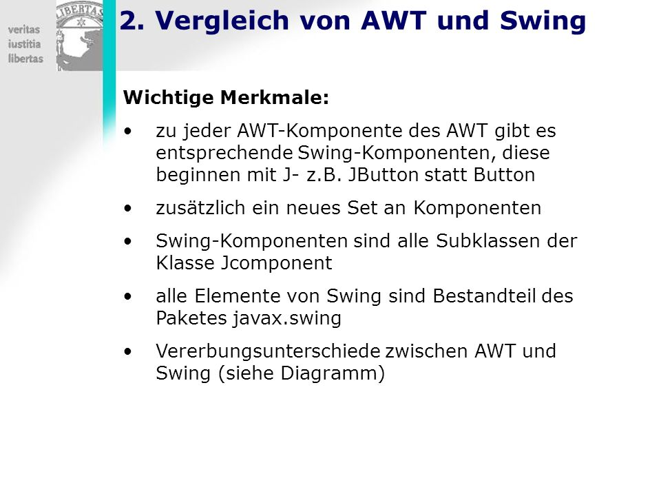 2. Vergleich von AWT und Swing