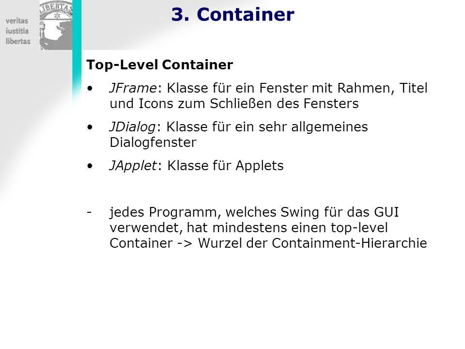 3. Container Top-Level Container