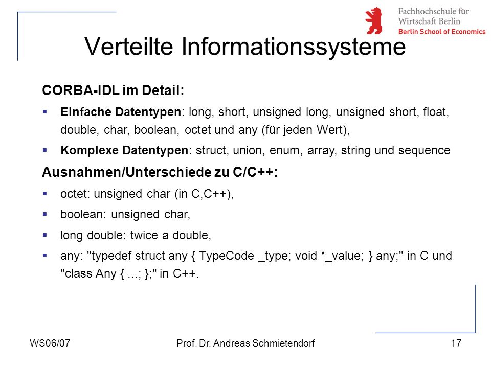 Verteilte Informationssysteme