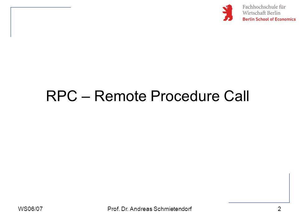 RPC – Remote Procedure Call
