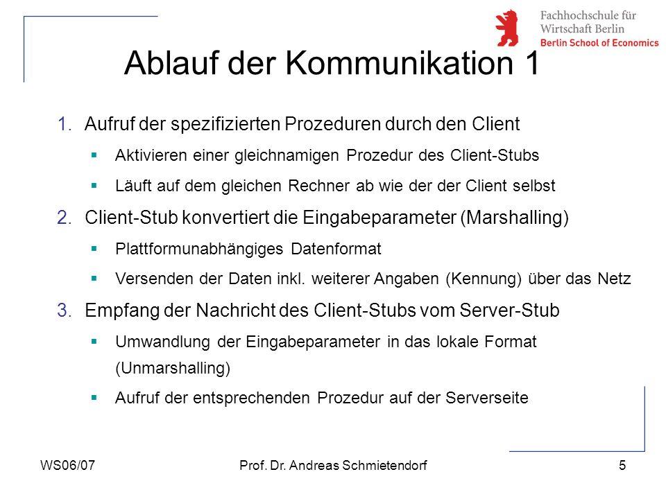 Ablauf der Kommunikation 1