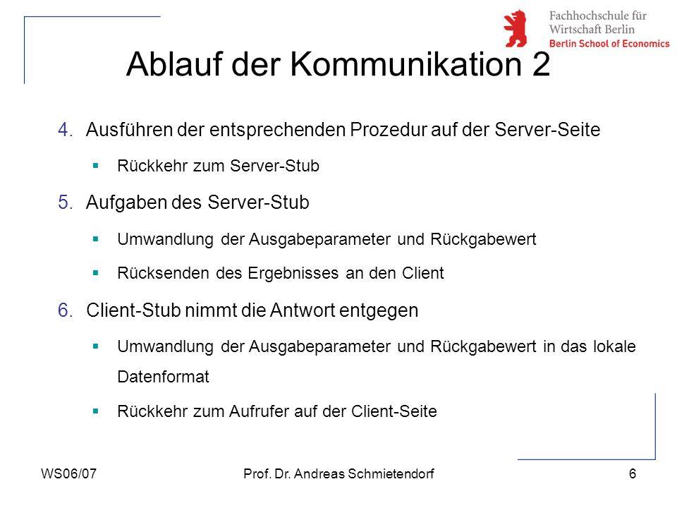 Ablauf der Kommunikation 2