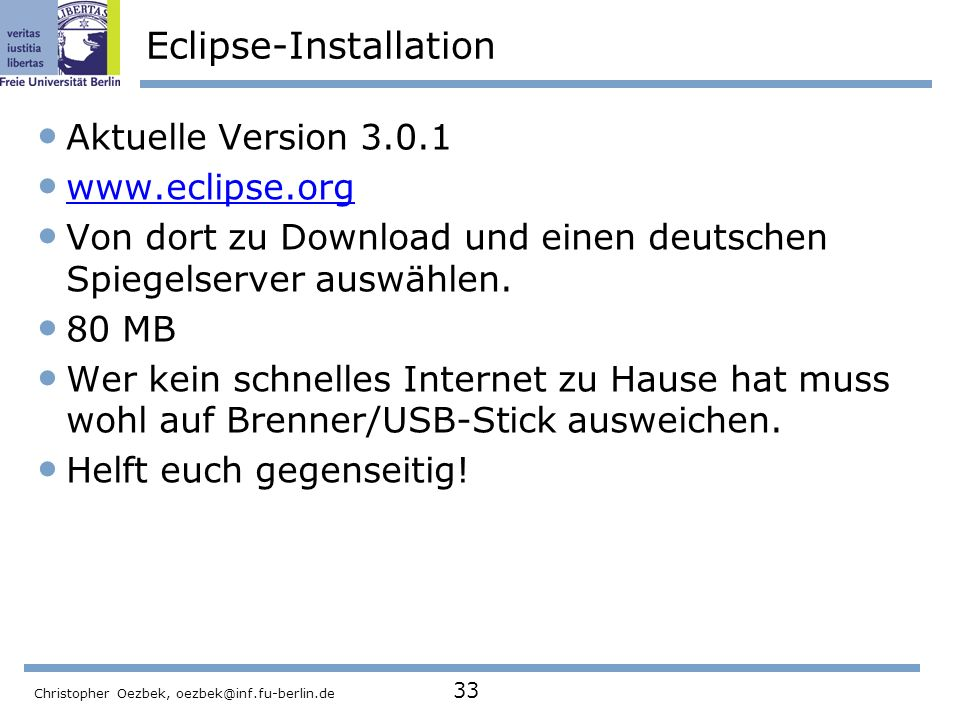 Eclipse-Installation