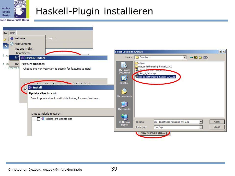 Haskell-Plugin installieren