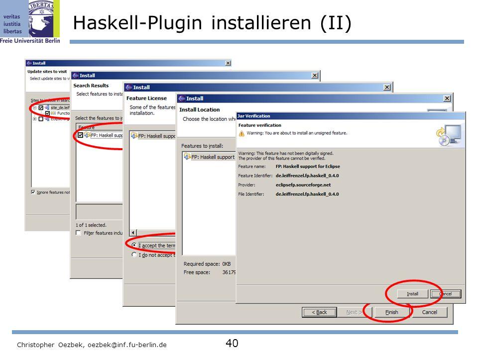 Haskell-Plugin installieren (II)