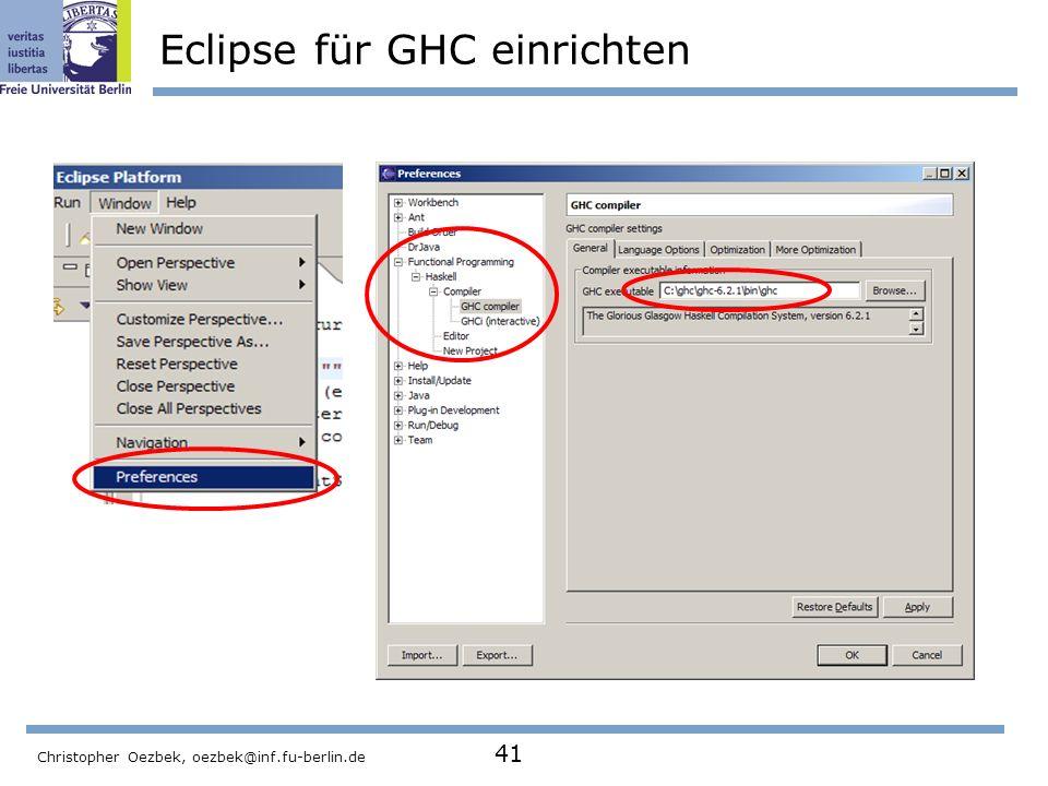 Eclipse für GHC einrichten