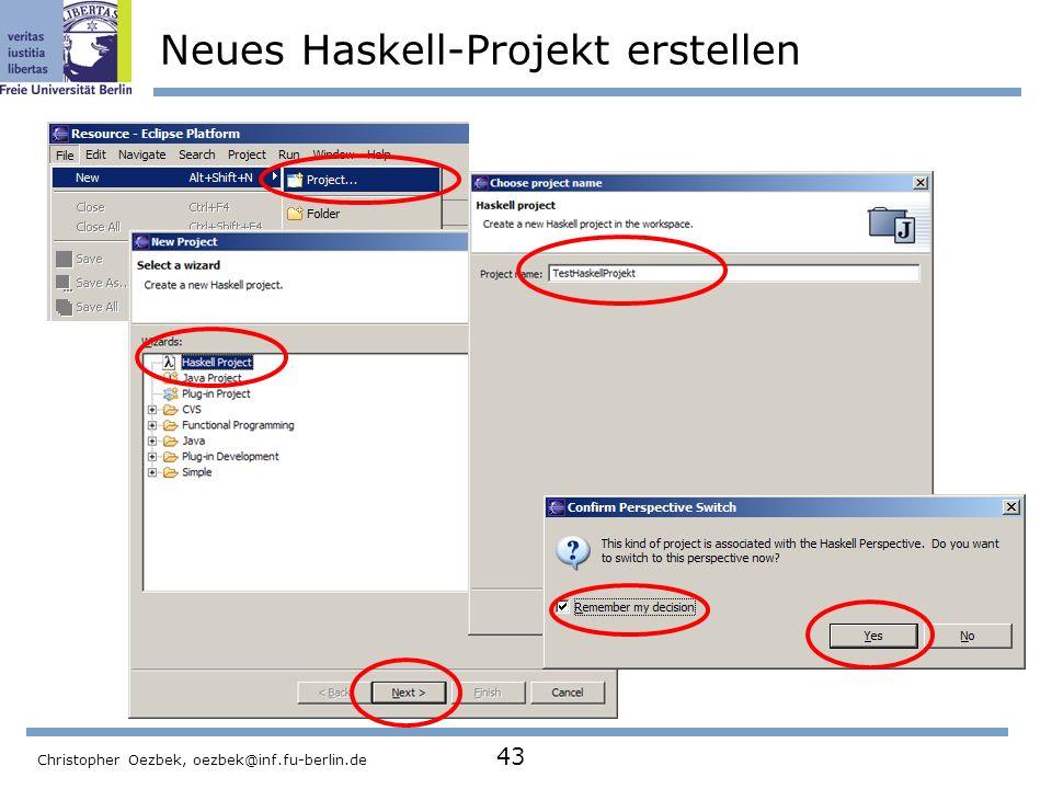 Neues Haskell-Projekt erstellen