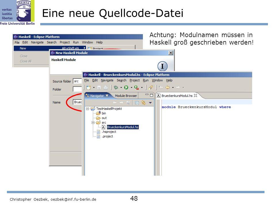 Eine neue Quellcode-Datei
