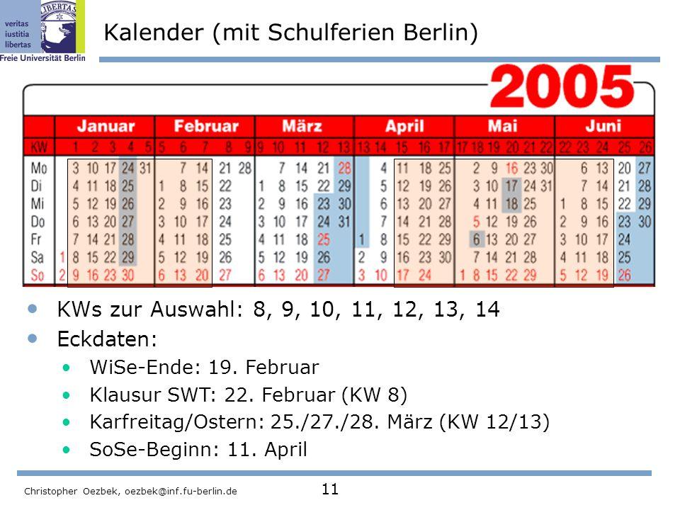 Kalender (mit Schulferien Berlin)