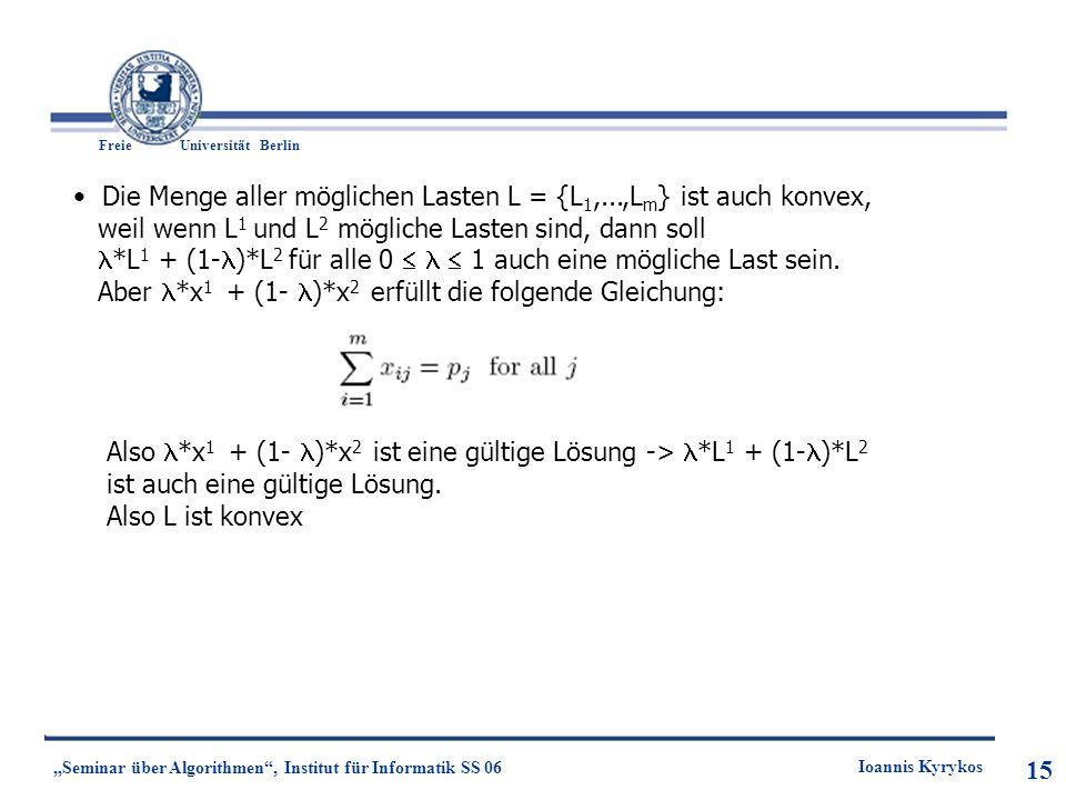 Die Menge aller möglichen Lasten L = {L1,...,Lm} ist auch konvex,