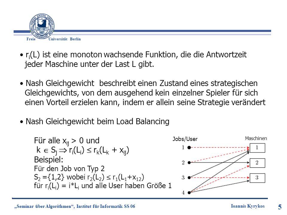 ri(L) ist eine monoton wachsende Funktion, die die Antwortzeit