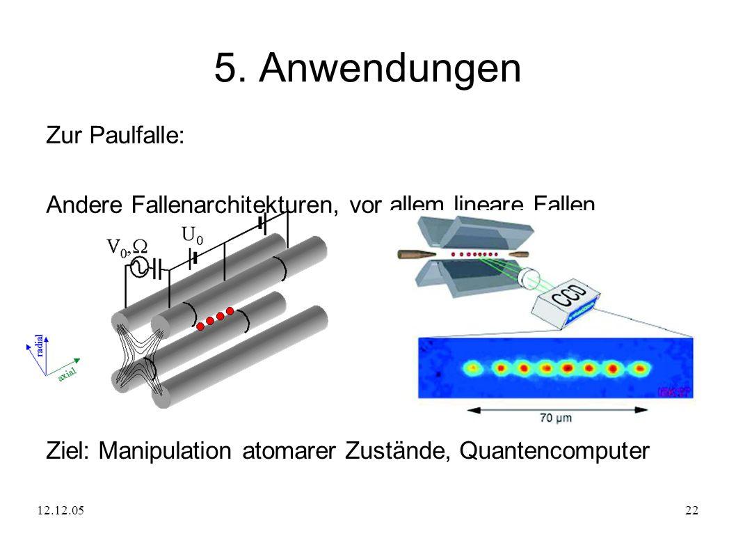 5. Anwendungen Zur Paulfalle: