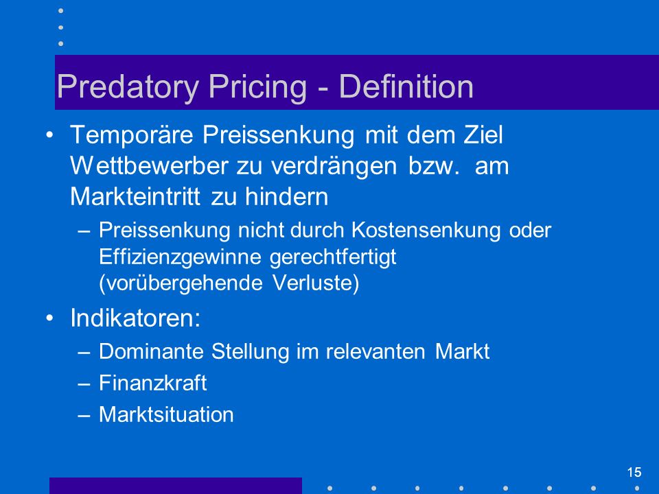Predatory Pricing - Definition