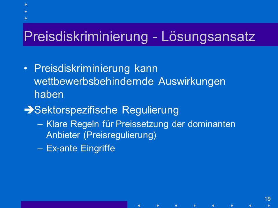 Preisdiskriminierung - Lösungsansatz