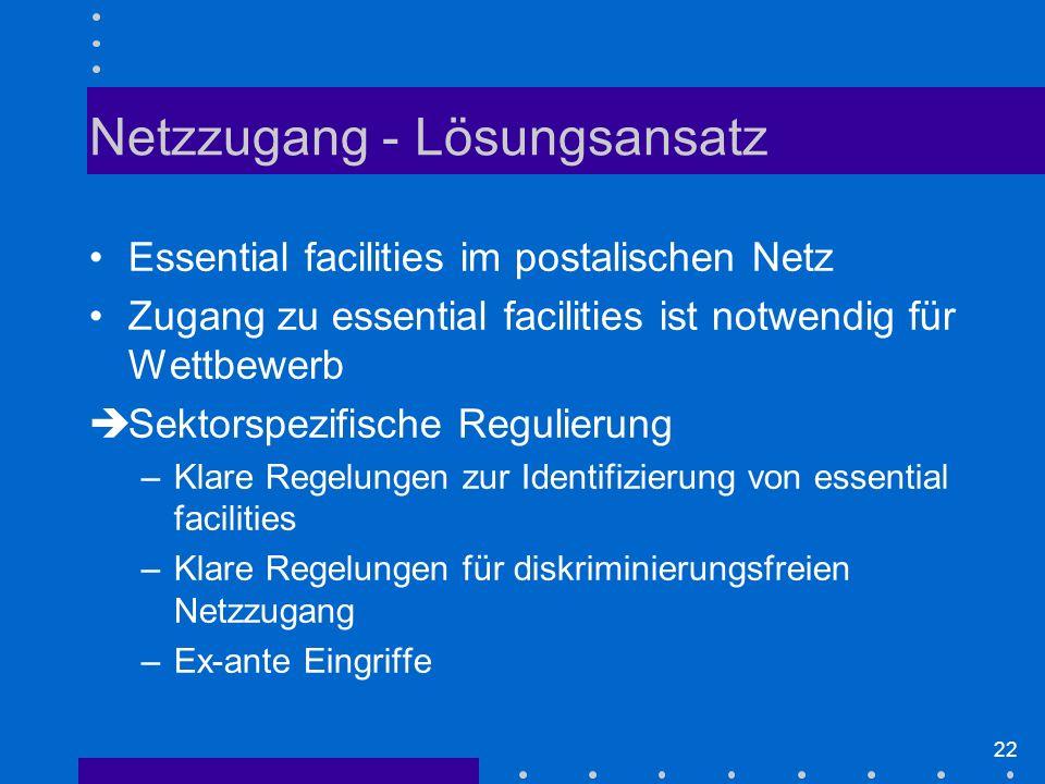 Netzzugang - Lösungsansatz