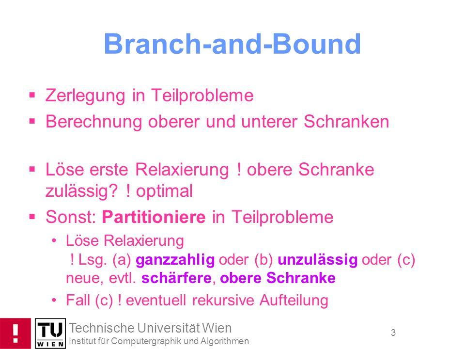 Branch-and-Bound Zerlegung in Teilprobleme