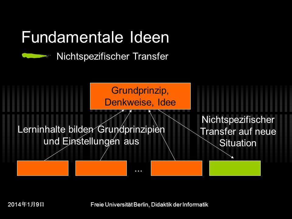 Fundamentale Ideen Nichtspezifischer Transfer