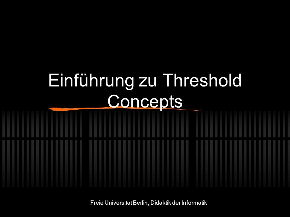 Einführung zu Threshold Concepts