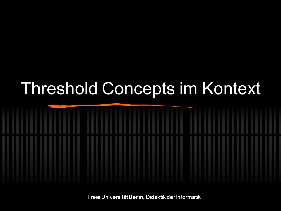 Threshold Concepts im Kontext
