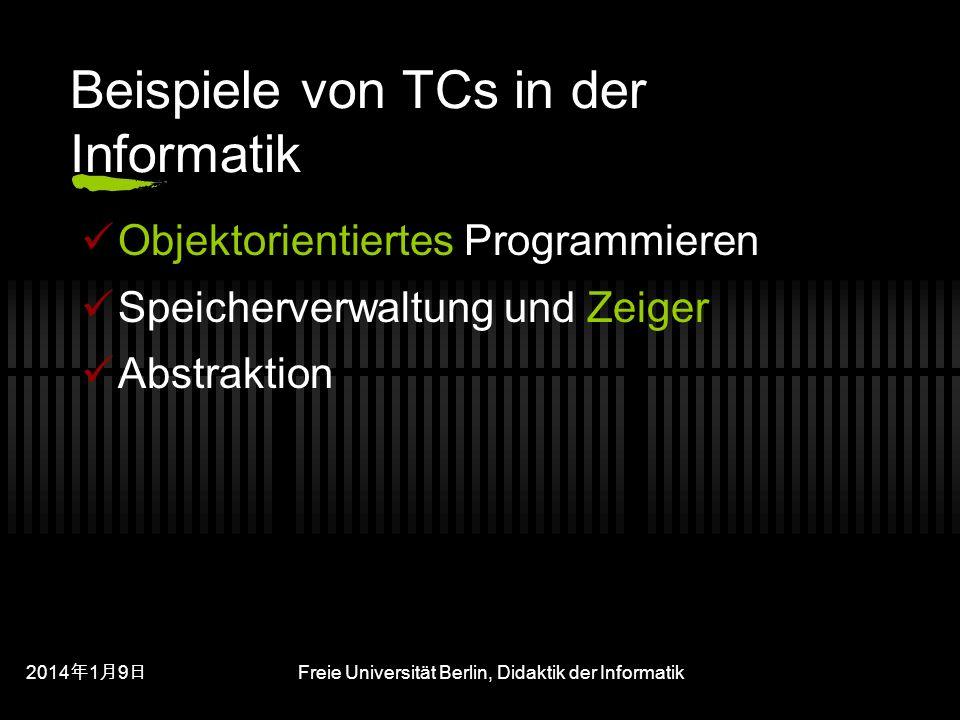 Beispiele von TCs in der Informatik
