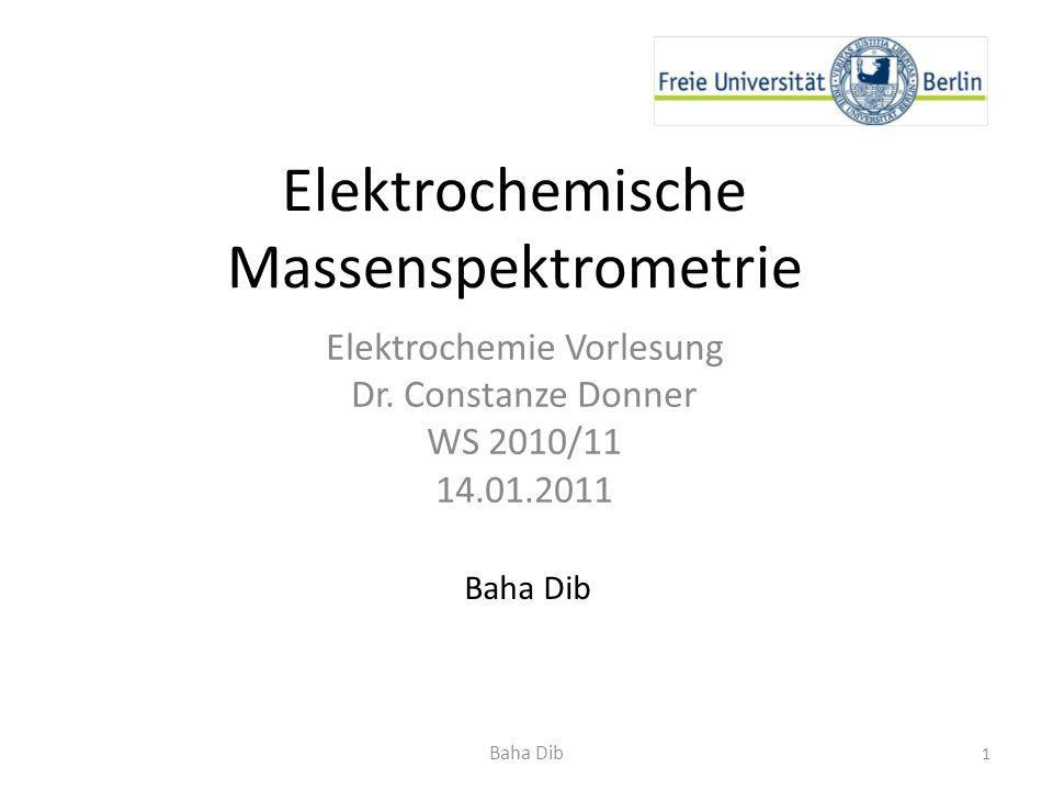 Elektrochemische Massenspektrometrie
