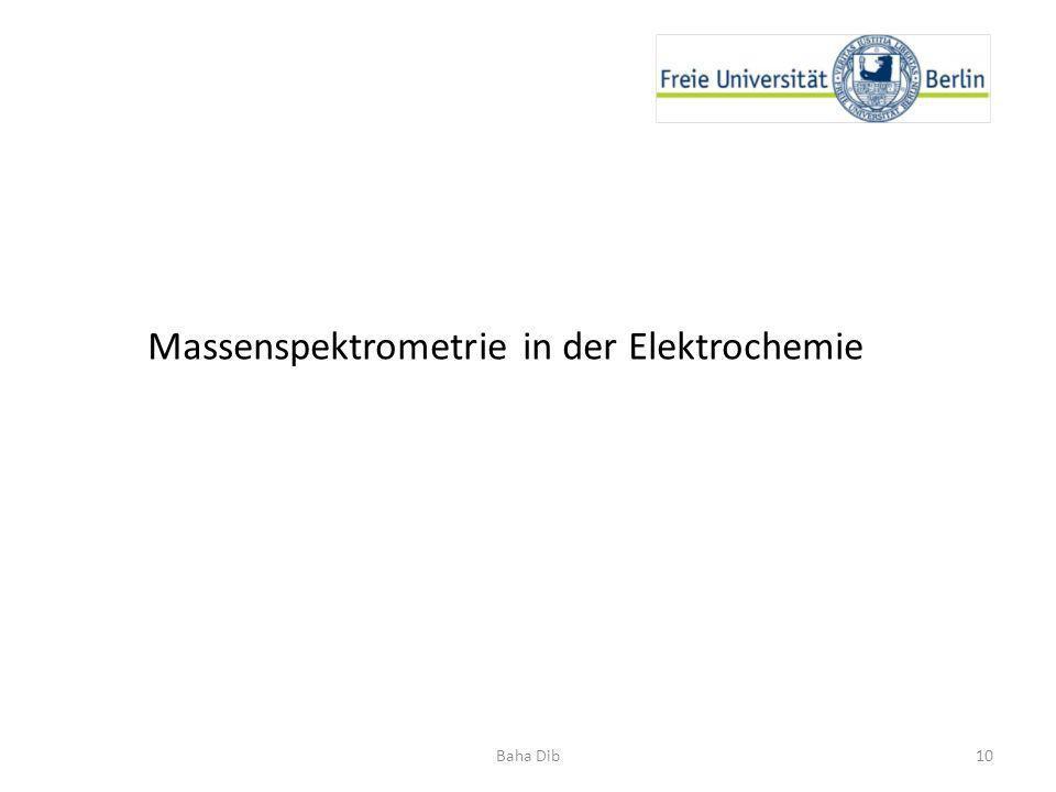 Massenspektrometrie in der Elektrochemie