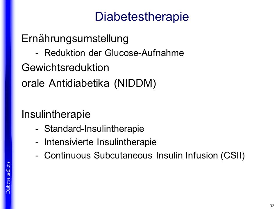 Diabetestherapie Ernährungsumstellung Gewichtsreduktion
