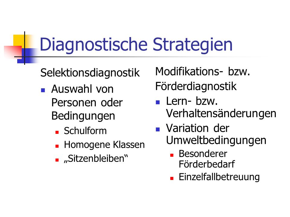 Diagnostische Strategien