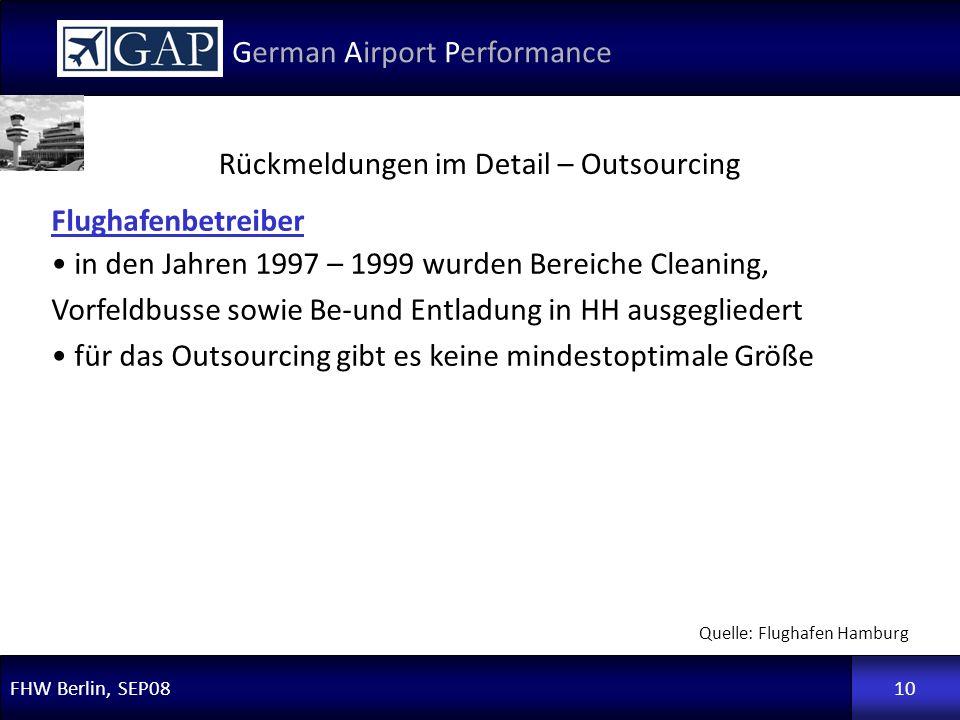 Rückmeldungen im Detail – Outsourcing