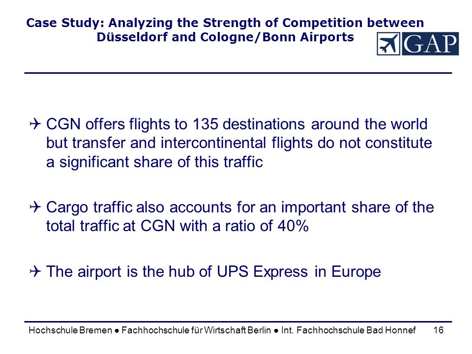 The airport is the hub of UPS Express in Europe