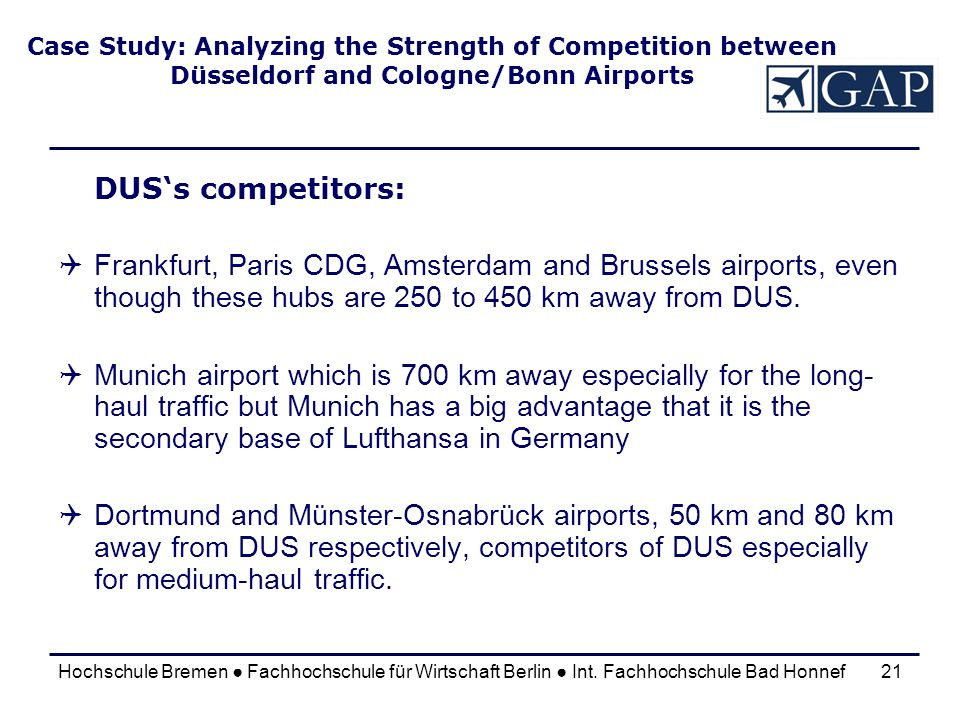 Case Study: Analyzing the Strength of Competition between Düsseldorf and Cologne/Bonn Airports