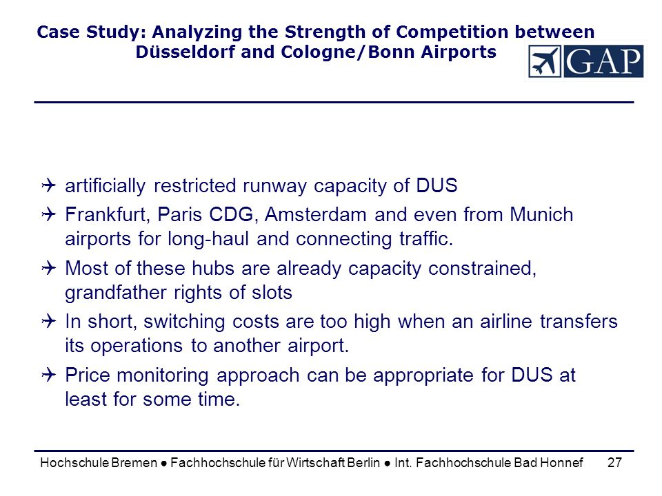 artificially restricted runway capacity of DUS