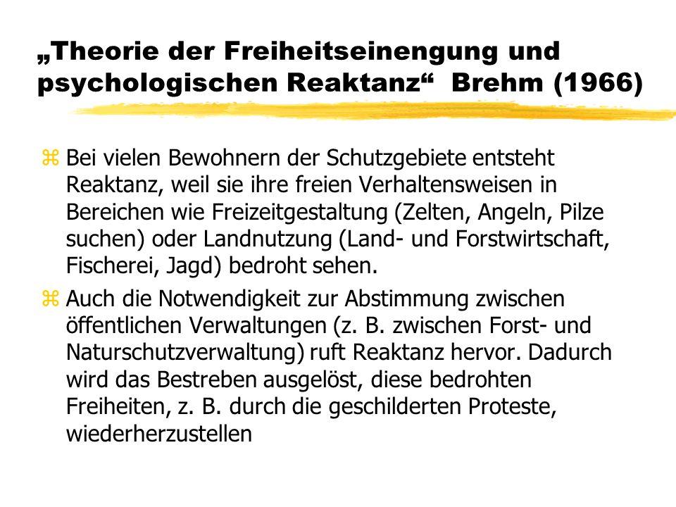 """""""Theorie der Freiheitseinengung und psychologischen Reaktanz Brehm (1966)"""
