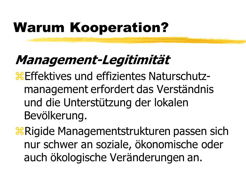 Warum Kooperation Management-Legitimität